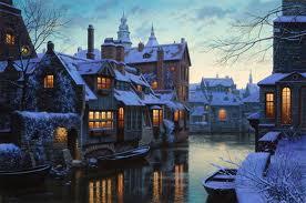 Canali_navigabili_Bruges_Natale