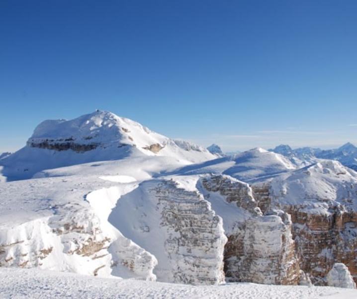 Passo Pordoi, col freeride, discese emozionanti sulla neve fresca
