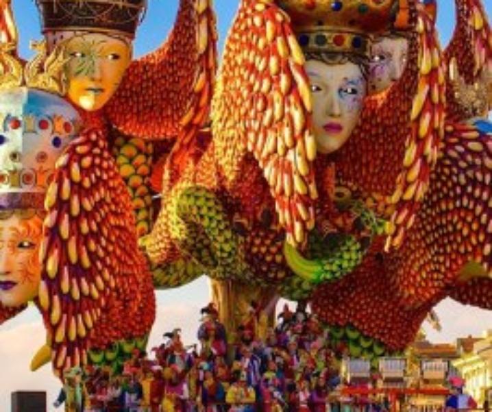 Carnevale di Viareggio 2017, la sfilata dei giganti di cartapesta