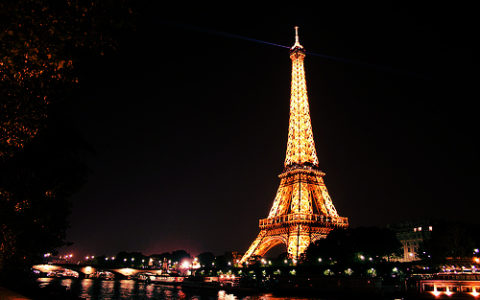 Torre Eiffel Parigi di notte