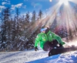 Snowkite in Valle d'Aosta, acrobazie sulla neve
