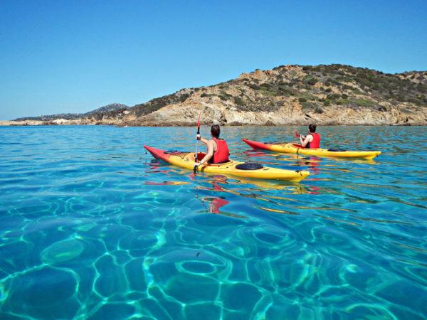 Kayak in Sardegna, tre itinerari da nord a sud
